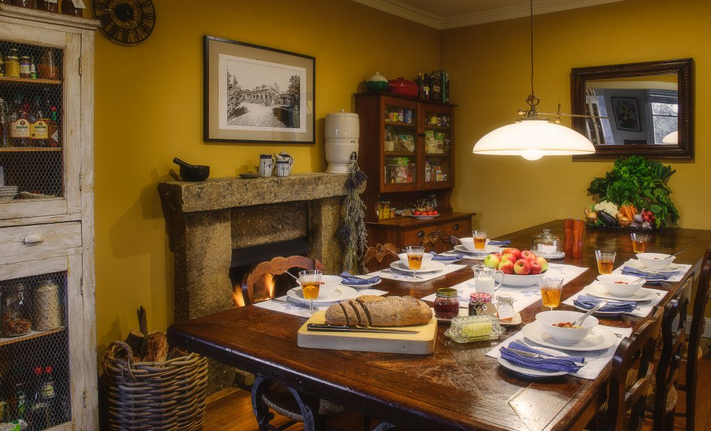 Farmhouse dining in our kitchen