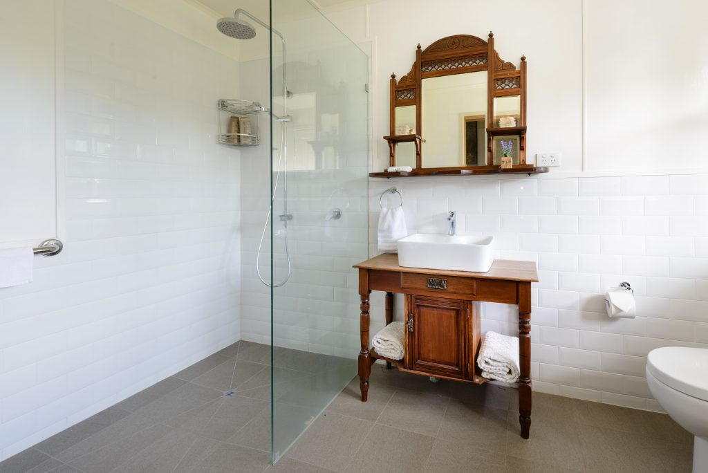 One of the two shared bathrooms in the house