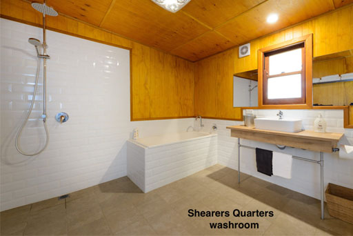 Rathmore Shearers Quarters washroom