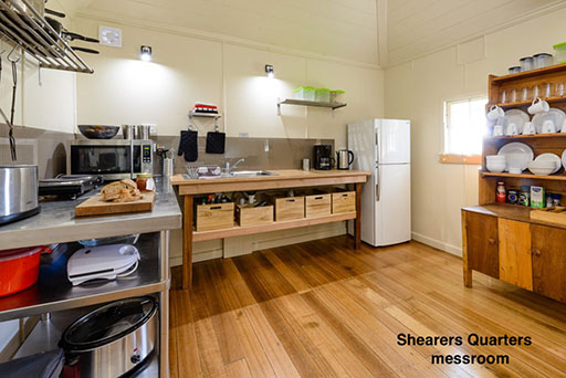 Rathmore Shearers Quarters mess room